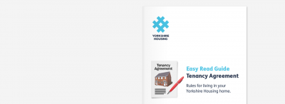 Yorkshire Housing Easy Read Tenancy Agreement Cover